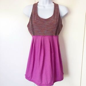 Lululemon Womens Work Out Tank Top Size 8 Y Back